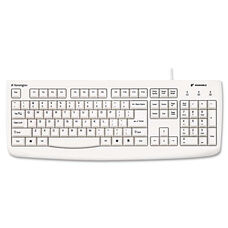 Kensington® Pro Fit USB Washable Keyboard - 104 Keys - White