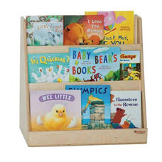 Tot Size Book Display with Three Book Display Shelves on Each Side - Assembled - 24