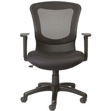 Marlin 26'' x 26.4'' D x 36.6'' H Adjustable Height Office Chair with Mesh Back - Black