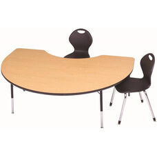 Laminate Top Adjustable Height Kidney Activity Table with Particleboard Core - 48