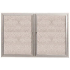 2 Door Outdoor Enclosed Bulletin Board with Aluminum Frame - 36