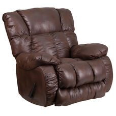 Contemporary Breathable Comfort Padre Espresso Fabric Rocker Recliner