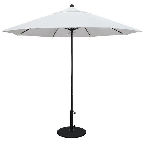 9 Ft. Fiberglass Market Umbrella with Push Lift and Single Wind Vent - Black Finish