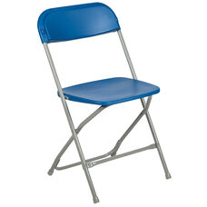HERCULES Series 800 lb. Capacity Premium Blue Plastic Folding Chair
