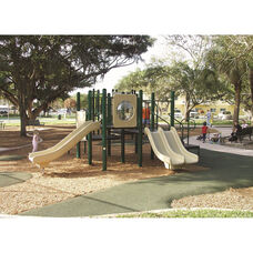 Galvanized Steel Tube Constructed Lauren Mega Series Play Center with Thermoplastic Coated Punch Steel Decks - 240