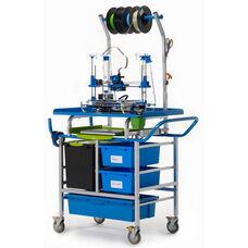 Premium Model 3D Printer Cart with Locking Base Tech Tub™ and Sliding Laptop Shelf