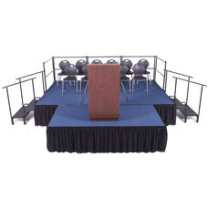 Fixed Height Complete Package Stage and Seated Riser with Carpeted Deck and Built - In Coupling System - 144