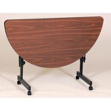 Adjustable Height Half-Round Deluxe High-Pressure Flip Top Table - 24