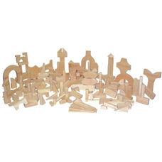 Kindergarten Set of One Hundred Eighty Three Multi-Shaped Hard Maple Blocks