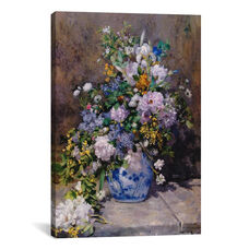 Spring Bouquet - grande Vaso Di Fiori by Pierre-Auguste Renoir Gallery Wrapped Canvas Artwork