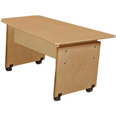 Adjustable Height Wooden Mobile Computer Table - 60
