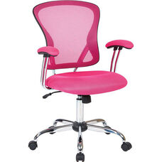 Ave Six Juliana Task Chair with Mesh Seat - Pink