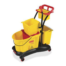 Rubbermaid Commercial Products WaveBreak Side Press Mopping Trolley - 18.57