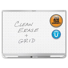 Quartet Prestige 2 Total Erase Magnetic Whiteboards - White - Silver Aluminum