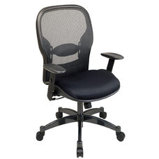 Space Professional Breathable Mesh Back Managers Chair with Adjustable Arms and Mesh Seat