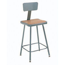 Steel Adjustable Hardboard Square Seat With Backrest - 18-27