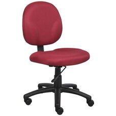 Diamond Contoured Mid Back Task Chair - Burgundy