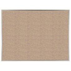 VIC Cork Bulletin Board with Satin Anodized Aluminum Frame - Buff - 36