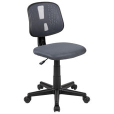 Basics Mid-Back Mesh Swivel Task Office Chair with Pivot Back, Gray, BIFMA Certified