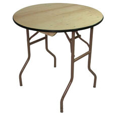 Reliant Standard Series Round Folding Table with Non Marring Floor Glides