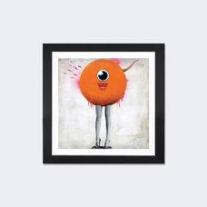 Eye Spy by Famous When Dead Artwork on Fine Art Paper with Black Matte Hardwood Frame - 16