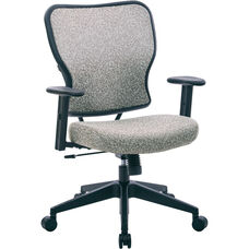 Space 213 Series Deluxe 2 to 1 Mechanical Height Office Chair with Adjustable Arms Chair - Teal