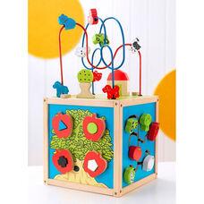 Early Childhood Development Wooden Farm Theme Bead Maze Cube