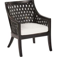 OSP Designs Plantation Lounge Chair with Cushion - Antique Black