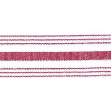 Set of 12 Farm Stripe 18'' x 22'' Cloth Napkin - Red