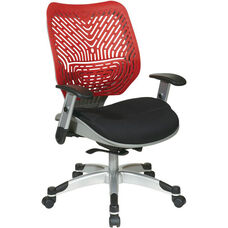 Space REVV Self Adjusting SpaceFlex Back and Mesh Seat Managers Chair with Adjustable Arms - Cosmo Back and Raven Seat