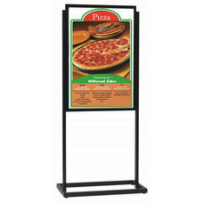 Boaster Freestanding Double Sided Poster Holder - Black - 63