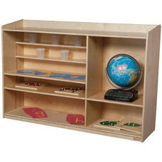Sensorial Solid Plywood Shelving Unit with Multiple Sized Shelving Options - Assembled - 54