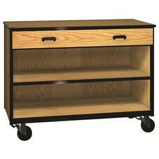 Denali 1000 Series Mobile Low Storage Cabinet w/ 1 Full-width Drawer & 1 Adjustable Shelf