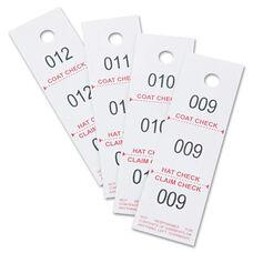 Safco® Three-Part Coat Room Checks - Paper - 1 1/2 x 5 - White - 500/Pack