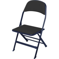 2000 Series Vinyl Upholstered Seat and Back Folding Chair with 14.25