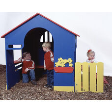 Polyethylene Constructed Tot Town Playhouse with Built In Handles and Slightly Sloped Ramp - 50