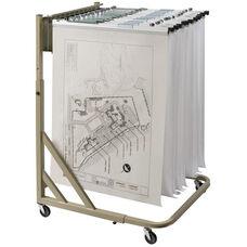 Mobile Pivot Steel Rack for Blueprints