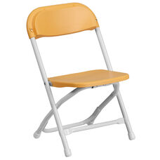 Kids Yellow Plastic Folding Chair