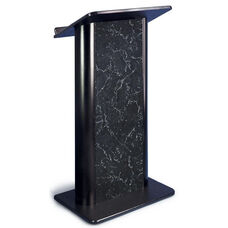 Flat Pyrenees Marble Lectern with Black Anodized Aluminum - 26.75