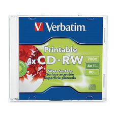 Verbatim Datalifeplus Silver Inkjet Prntbl Cd-Rw - Pack Of 100