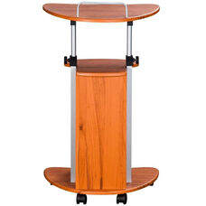 Techni Mobili Rolling Laptop Cart with Storage - Wood Grain