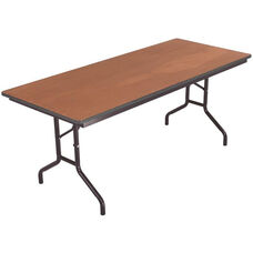 Sealed and Stained Plywood Top Table with Vinyl T - Molding Edge - 24