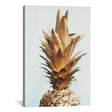 The Gold Pineapple by Chelsea Victoria Gallery Wrapped Canvas Artwork