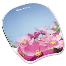 Fellowes Flowers Image Gel Mouse Pad Wrist Rest