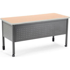 Mesa 27.75'' D x 59'' W Training Table and Desk with Drawers - Maple