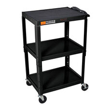 Black Open Shelf Utility & Audio Visual Cart