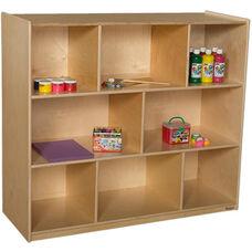 Extra Deep Wooden 3 Shelf Mobile Storage Unit - 48