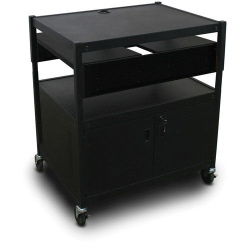 Our Spartan Series Adjustable Media Projector Cart and Cabinet with Two Pull-Out Side-Shelves - Black is on sale now.
