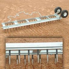 Diamond Galvanized Steel Digger Field Groomer with Wheels
