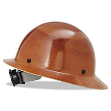 MSA Skullgard Protective Non Slotted Hard Hats - Ratchet Suspension - Size 6 1/2 - 8 - Natural Tan